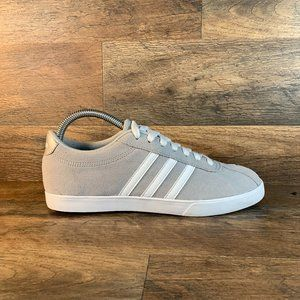Adidas Neo Womens Suede Low Top Three Striped  Gra